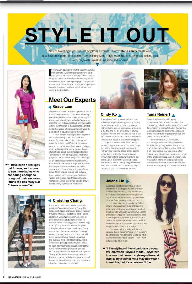 HK Magazine feature